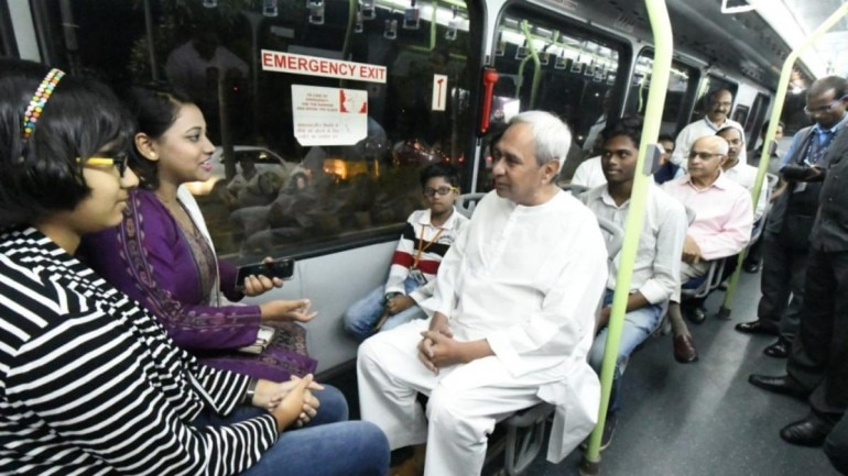 Odisha CM Naveen Patnaik boards Mo Bus, encourages people to use public transport