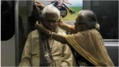 Emotional picture of elderly couple in Kolkata metro is viral. Internet is in love