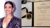 Radhika Apte receives nomination medal for International Emmy Awards: So honoured