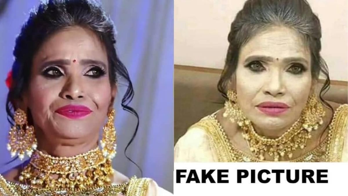 Ranu Mondals viral makeup picture is fake says salon. Photo: Instagram/ sandhyasmakeover