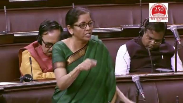 Sitharaman in Parliament