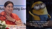 Smriti Irani has a special message for her friends and it is hilarious