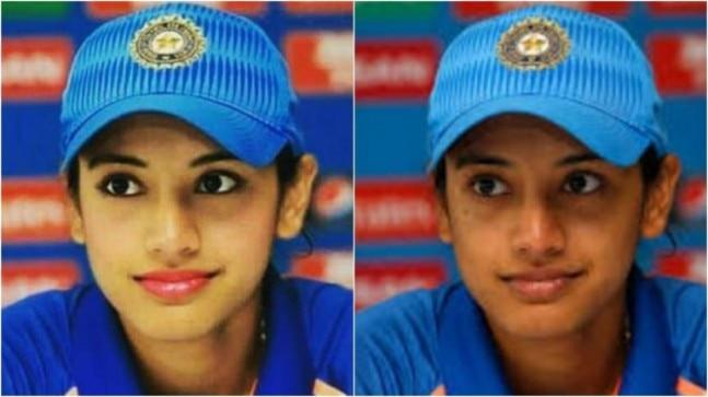 Smriti Mandhana's photoshopped pic with make-up and kajal goes viral. Internet is furious