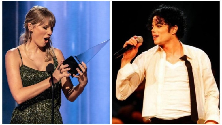 Taylor Swift breaks Michael Jackson's record at American Music Awards