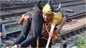 Crossing railway tracks in Mumbai? Yamraj will find you and teach you a lesson. Literally