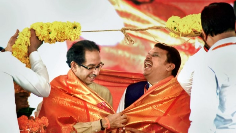 Shiv Sena, once a steadfast ally of the BJP, is the latest one to fall off the NDA wagon. (File photo of Uddhav Thackeray with Devendra Fadnavis | PTI)