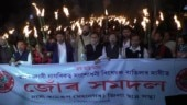 Massive protests in Assam over Citizenship Ammendment Bill, CM Sarbananda Sonowal shown black flags