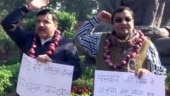 Wearing onion garlands, AAP MPs protest in Parliament against onion price hike