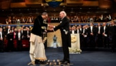 Watch: Dressed in dhoti, Abhijit Banerjee receives Nobel Prize 2019 in Sweden