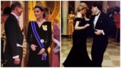 Kate Middleton in velvet gown pays tribute to Princess Diana's Travolta Dress. Trending now