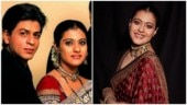 Kajol in regal red and black saree takes us back to Kabhi Khushi Kabhie Gham days. All pics