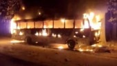 Unidentified miscreants torch BJP leader's bus in Assam's Morigaon