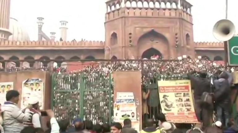 Bhim Army protests near Jama Masjid against new citizenship law