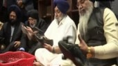 Sukhbir Singh Badal, other SAD leaders perform seva at Golden Temple
