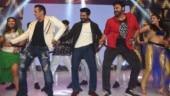 Salman Khan dances to Munna Badnaam Hua with Ram Charan and Venkatesh. See video