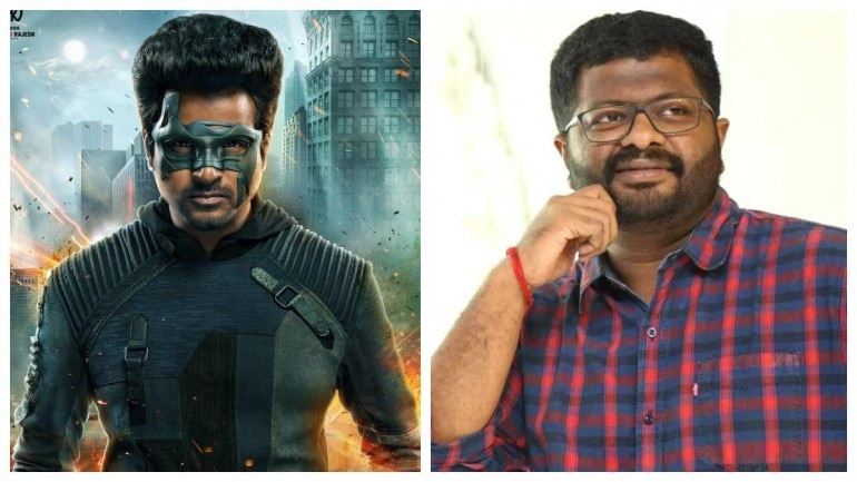 (L-R) Poster of Hero and director PS Mithran