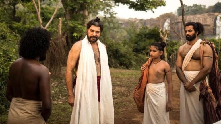 Mammootty, Master Achuthan and Unni Mukundan in Mamangam