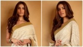 Tara Sutaria radiates elegance in white chikankari saree for Armaan Jain's roka ceremony. See pics