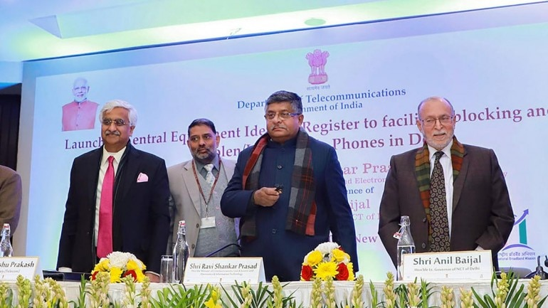 Launching the initiative, Telecom Minister Ravi Shankar Prasad said safety and security of phones are crucial given the country's technological strides and digital prowess. (Photo: PTI)