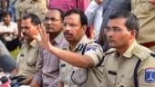 People hail Hyderabad top cop Sajjanar as hero, perform milk bath
