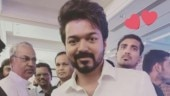 Thalapathy Vijay attends a family reception in Chennai. See latest photos and videos
