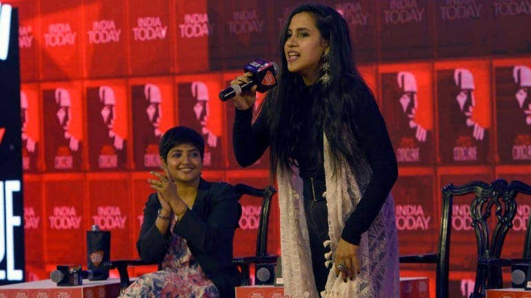 Nikhita Gandhi and Lagnajita Chakraborty at India Today Conclave East