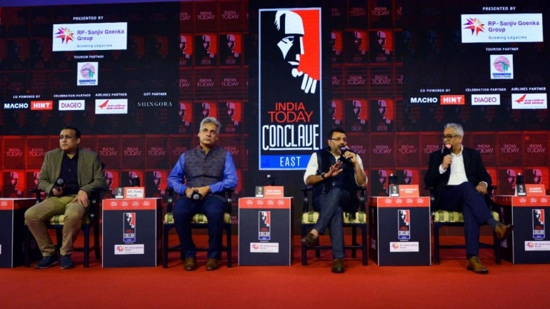 Panellists speaking at a session on Day 2 of India Today Conclave East 2019 in Kolkata. (Photos: India Today)