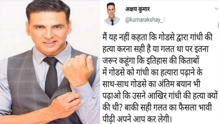 Fact Check: No, Akshay Kumar never said this about Nathuram Godse