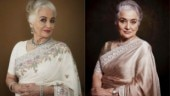 Asha Parekh exudes elegance in simple sarees. Shows why she is the evergreen fashionista