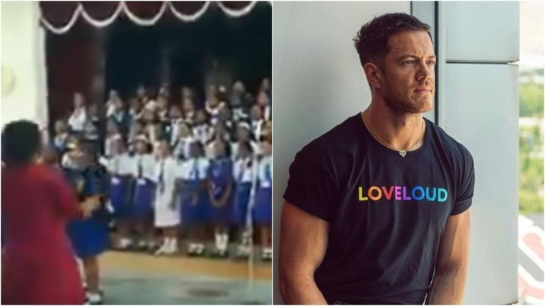 Screengrab from video that went viral on Twitter (L), Dan Reynolds (R) (Photos: Twitter (L), Instagram (R)