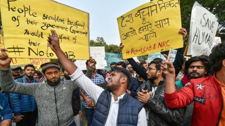 Protests at Jantar Mantar against citizenship bill, NRC