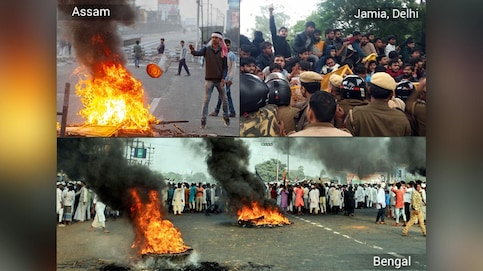 CAB stir rips through nation: Bengal burns, Jamia students clash with cops, Assam on edge