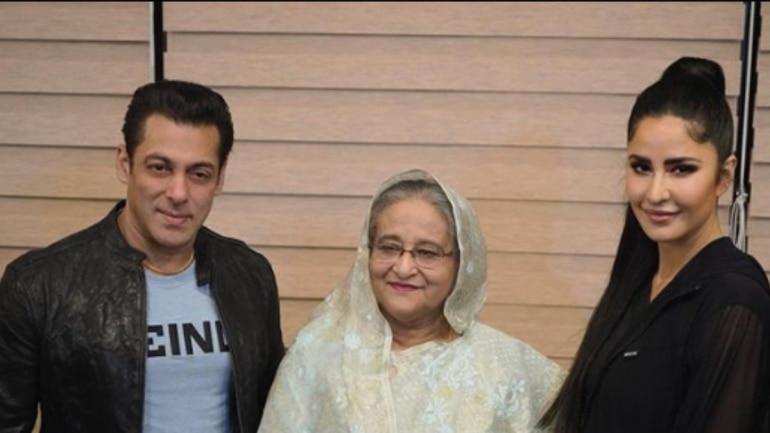 Image result for Katrina and Salman meet Bangladesh Prime Minister