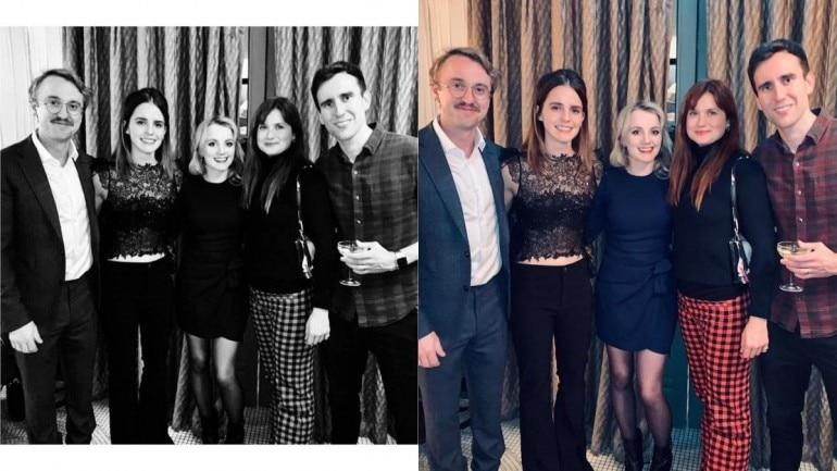 Emma Watson, Tom Felton, Bonnie Wright, Matthew Lewis and Evanna Lynch.
