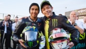 F1 and MotoGP legends come together: Lewis Hamilton, Valentino Rossi swap rides