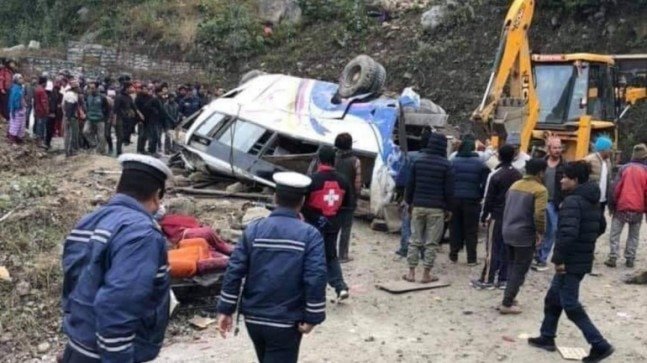 Nepal: 14 killed, dozens injured in bus accident