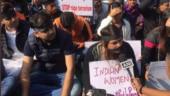 Protest against rape and murder of Telangana doctor at Jantar Mantar