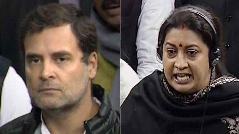 Rahul Gandhi has politicised rape for brownie points: Smiriti Iran