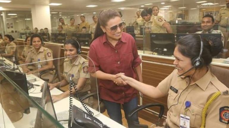 Rani Mukerji visits Mumbai's Police Control Room