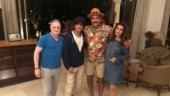 Shah Rukh Khan parties with Raveena Tandon and Ravi Shastri at his Alibaug farmhouse. See pic