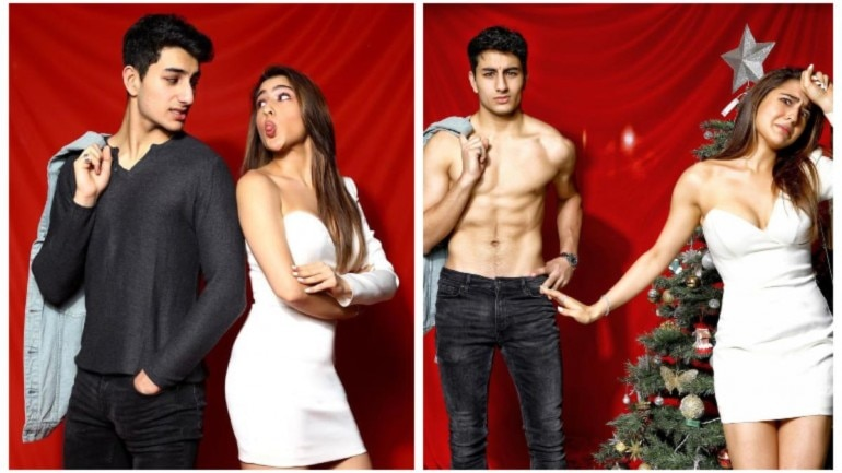 Sara Ali Khan and Ibrahim Ali Khan pose together on Christmas