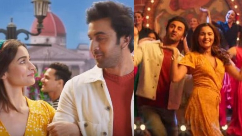 Alia Bhatt and Ranbir Kapoor are seen together in a new music video.