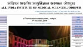 AIIMS Jodhpur answer key 2019 for stenographer and office assistants released: Check details