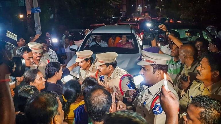 Residents of Telangana rape-murder victim's colony turn away politicians