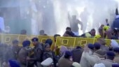 Cops use water cannons on AAP workers protesting outside Punjab CM's home, detain Bhagwant Mann