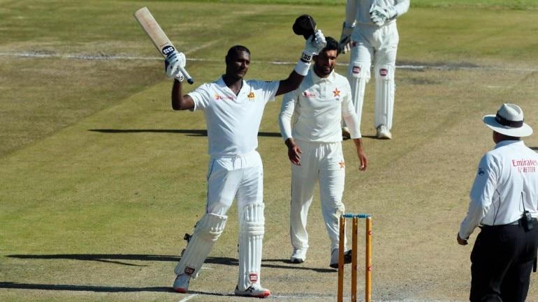 Angelo Mathews was unbeaten on 200 from 468 balls vs Zimbabwe. (AP Photo)