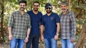 RRR: Jr NTR and Ram Charan extend warm welcome to Ajay Devgn. See new pics