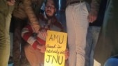 Students of AMU, Jadavpur University carry out protest to show solidarity with JNU