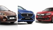 Hyundai Aura vs Maruti Suzuki Dzire vs Honda Amaze: Prices compared