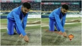 Virat Kohli's pic while checking the pitch goes viral. Netizens turn it into hilarious memes